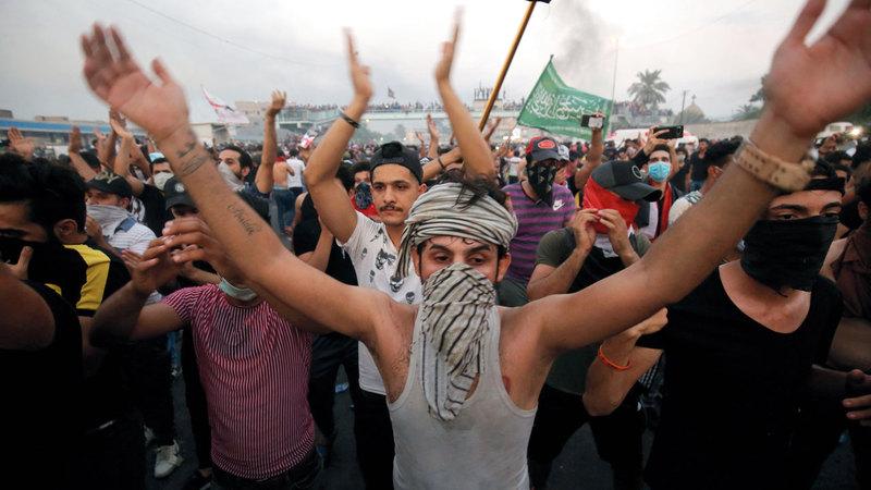 الاحتجاجات تضخمت نتيجة سوء تعامل الحكومة معها. أ.ف.ب