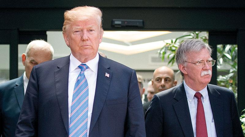 ترامب وبولتون.. خلافات منذ بداية دخول الأخير البيت الأبيض.  غيتي