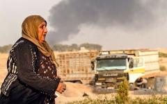 الصورة: بدء العملية العسكرية التركية في شمال سورية ضد القوات الكردية وسط استنكاردولي
