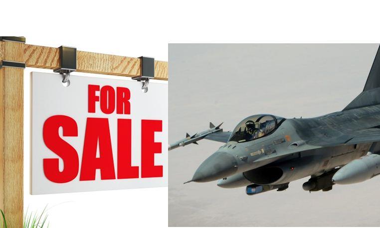 المقاتلة الحربية F-16 معروضة للبيع بـ 8.5 ملايين دولار