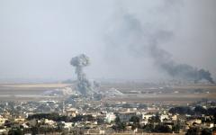 الصورة: معارك عنيفة بين القوات الكردية والتركية  في شمال شرق سورية
