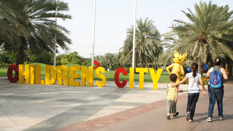 مدينة الطفل تسعى لتعزيز التسامح بين مختلف الثقافات  والأزياء والفنون. تصوير: أسامة أبوغانم