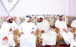 الصورة: منصور بن طحنون يعزي في وفاة الضعيف بن غدير الكتبي