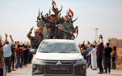 الصورة: انتــشــار قـــوات الجـيــش السوري على خط المواجهة مع القوات التركيـة