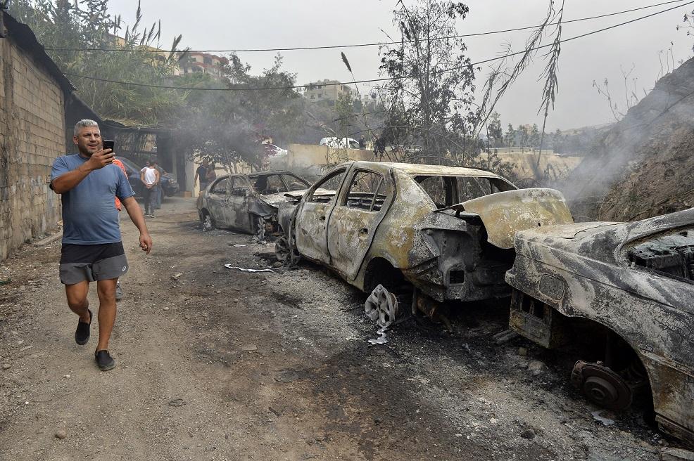 نتيجة بحث الصور عن الحرائق في لبنان