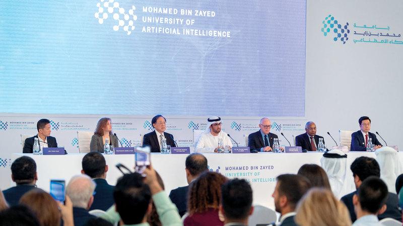 خلال إطلاق جامعة محمد بن زايد للذكاء الاصطناعي. وام