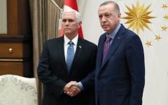 الصورة: نائب ترامب يجتمع مع أردوغان ويطالب بوقف العـدوان التركــي على سـورية