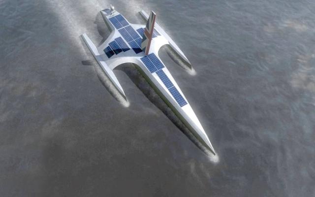 الصورة: «ماي فلاور».. أول سفينة ذاتية القيادة  تبحر عبر الأطلسي