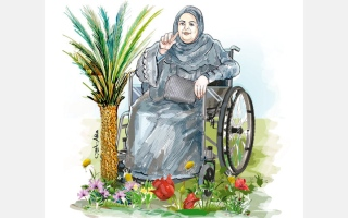 الصورة: اللون الأخضر يحرر مواطنة مقعدة من عزلتها