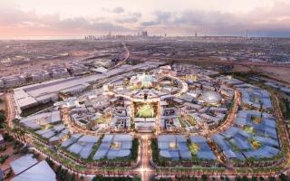 الصورة: 140 مليون ساعة عمل أنجزها 35 ألف عامل في «إكسبو 2020 دبي»