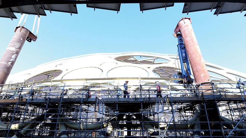 الخطيب أكد أنه تم الانتهاء بشكل كامل من الأعمال الإنشائية لـ«ساحة الوصل». تصوير: باتريك كاستيلو
