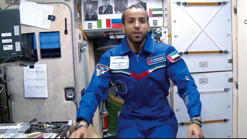 مهمة المنصوري إلى محطة الفضاء الدولية تندرج تحت برنامج «الإمارات لرواد الفضاء». من المصدر