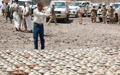 الصورة: إتلاف 3000 لغم حوثي في تعز
