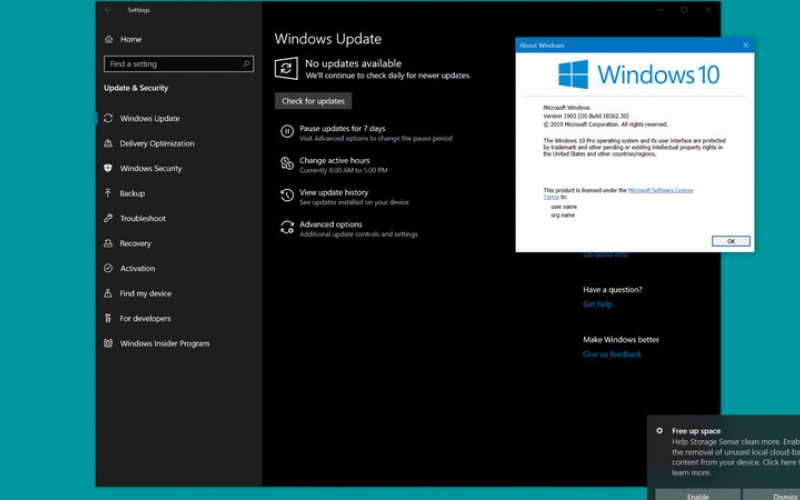 الصورة: «مايكروسوفت» تدعو إلى عدم تنزيل تحديث أكتوبر لـ «ويندوز 10»