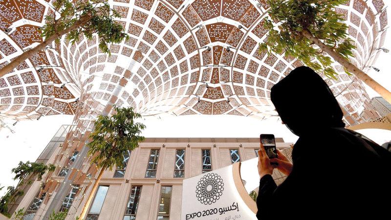 شعار «إكسبو 2020 دبي» مستوحى من حلقة عثر عليها في موقع ساروق الحديد. أرشيفية