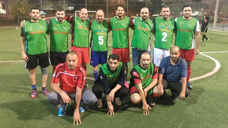 فريق «الإمارات اليوم» لكرة القدم. من المصدر