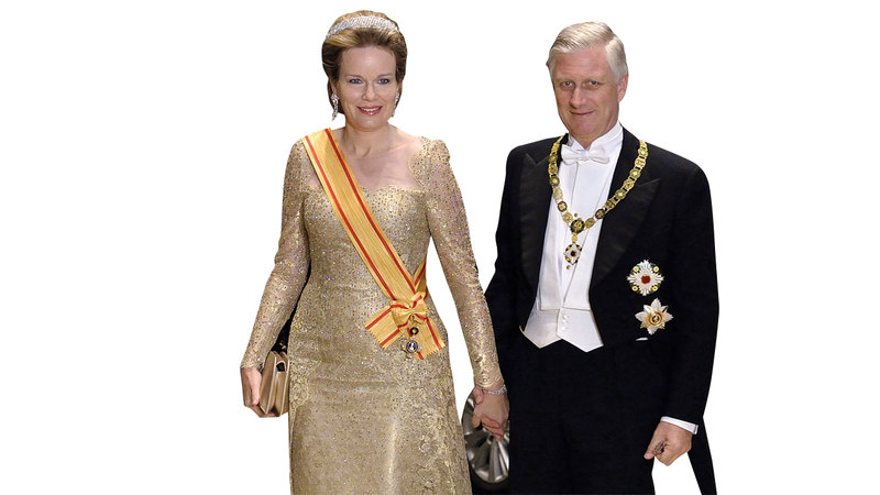 ملكة بلجيكا ماتيلدا ارتدت تاجاً يطلق عليه «التسع أقاليم». رويترز