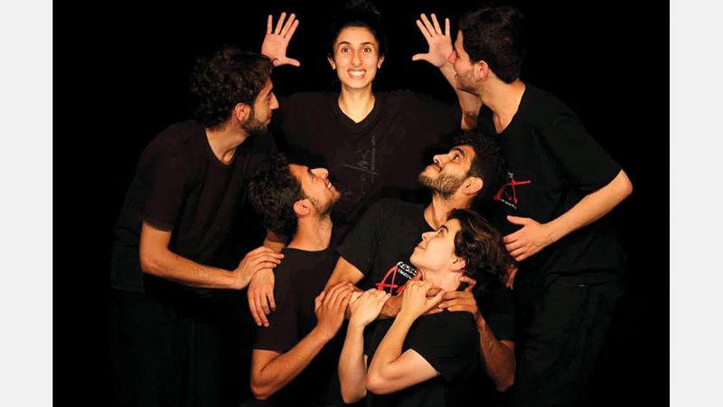 مشهد من مسرحية «مروّح ع فلسطين» الفائزة بجائزة الدورة الماضية. أرشيفية