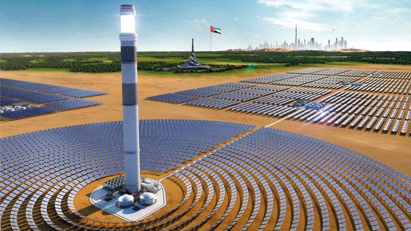 تزويد المعرض بطاقة متجدّدة من مجمّع محمد بن راشد آل مكتوم للطاقة الشمسية. أرشيفية