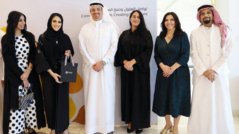 جواهر بنت خليفة خلال زيارتها لموقع «إكسبو 2020 دبي». من المصدر