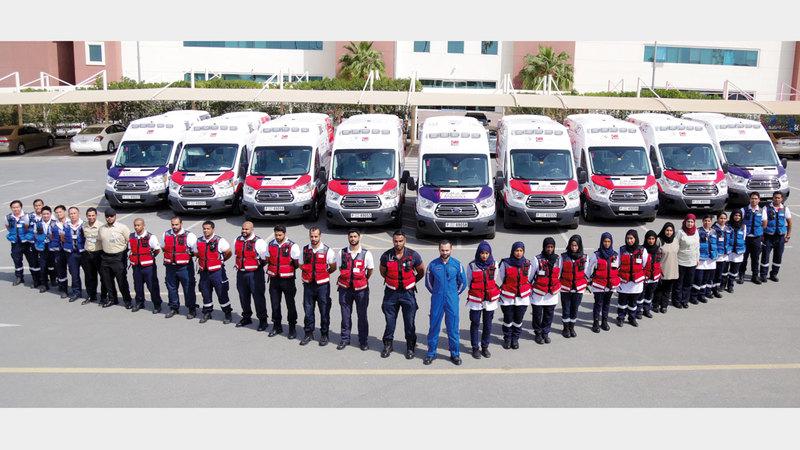 «إسعاف دبي» تستهدف الوصول بزمن الاستجابة للبلاغات إلى 3 دقائق، حداً أقصى. من المصدر