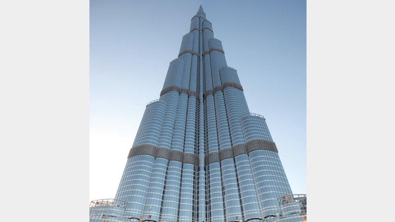 برج خليفة من أبرز المعالم التي تضمها الخريطة التفاعلية. أرشيفية