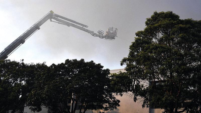 الحريق التهم مئات الهكتارات. أ.ف.ب