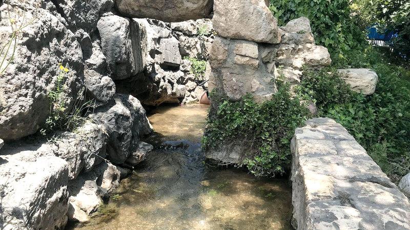 «البركة الفوقا» إحدى بِرَك عين سلوان الأثرية التاريخية. أرشيفية
