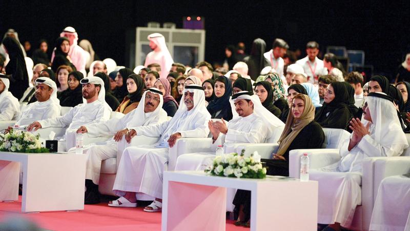 نهيان بن مبارك أطلق المشروع خلال معرض الشارقة الدولي للكتاب. من المصدر