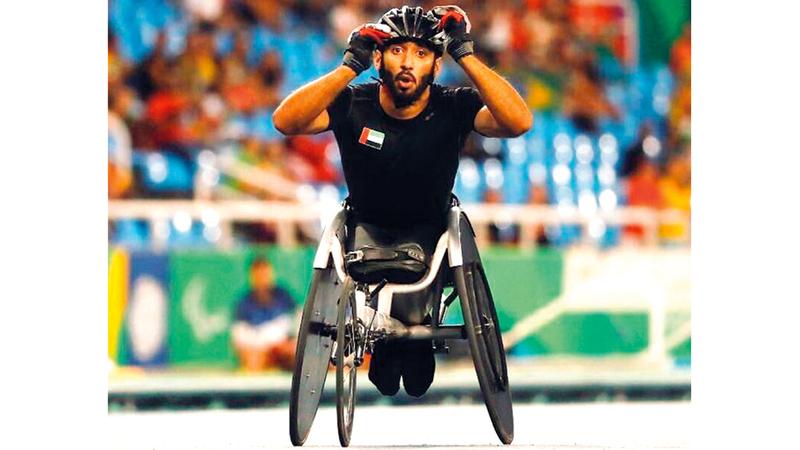 البطل الأولمبي محمد القايد يقود المنتخب في مونديال أصحاب الهمم بدبي. من المصدر