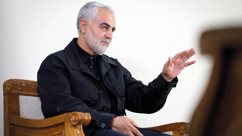 سليماني زار بغداد وطلب من هادي العامري  عدم قبول أي من مطالب المتظاهرين. إي.بي.إيه