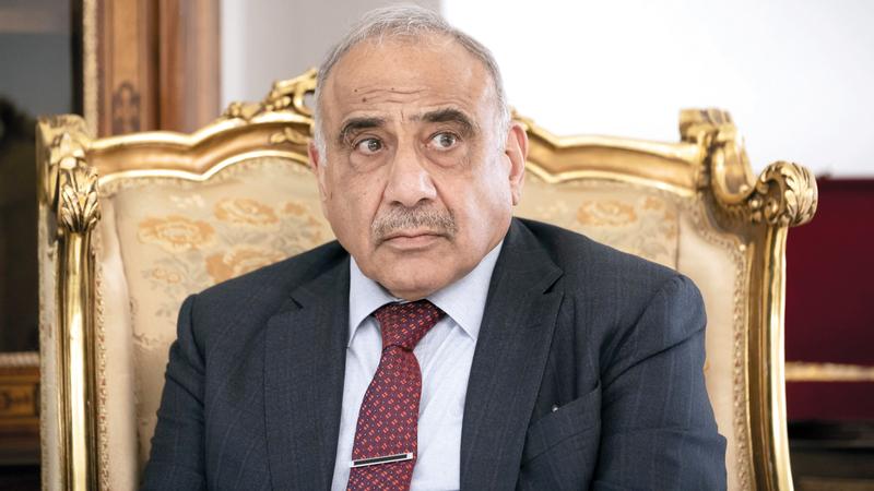 عبدالمهدي ليس هو من يملك خيار الاستقالة أو البقاء في السلطة. غيتي