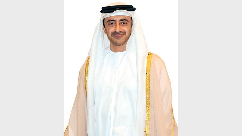 عبدالله بن زايد: «الإمارات قادت، منذ تأسيسها، تحالفات دولية لنشر الازدهار على المستوى العالمي».
