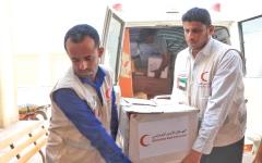 الصورة: الإمارات تسيّر قافلة مساعدات لأهالي الدريهمي