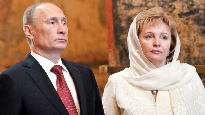 بوتين أعلن طلاقه من لودميلا عام 2013 ولم تظهر طليقته في العلن إلا في حالات نادرة للغاية. أرشيفية