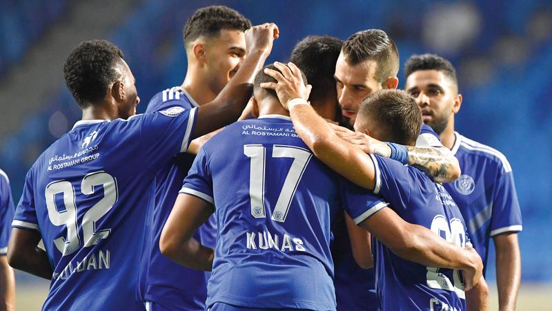 النصر حقق العلامة الكاملة حتى الآن منذ قدوم المدرب الجديد كرونسلاف. تصوير: أسامة أبوغانم