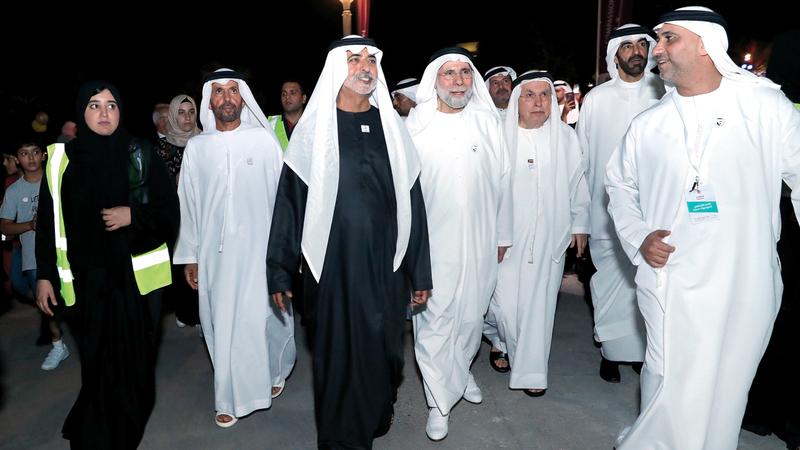 نهيان بن مبارك خلال انطلاق «المهرجان». وام