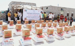 الصورة: مساعدات إماراتية عاجلة لشبوة.. وغذائية ودوائية للمخاء