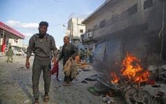 الصورة: انفجار سيارة مفخخة بسورية ومقتل 8 أشخاص