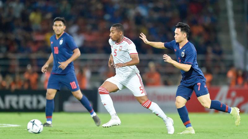 المنتخب خسر أمام تايلاند 1-2. من المصدر