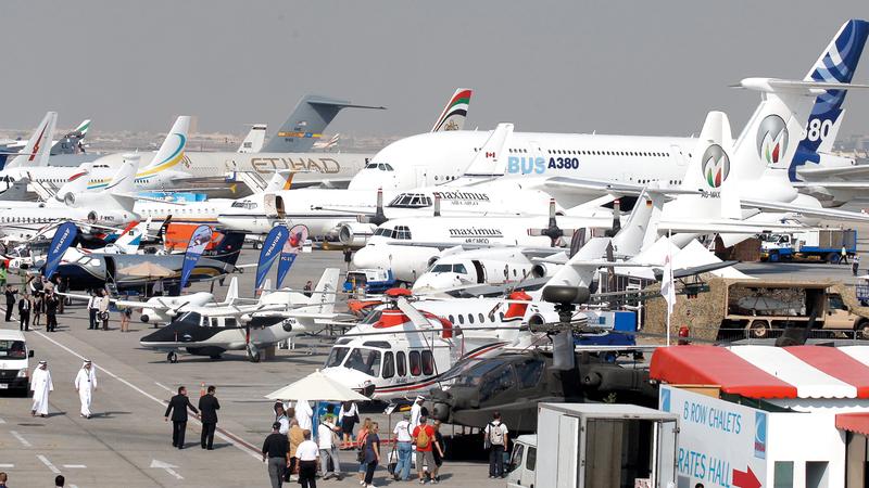 أكبر وأهم اللاعبين في صناعة الطيران سيوجدون في معرض دبي للطيران 2019. الإمارات اليوم