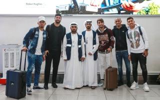 الصورة: منتخب البرازيل يصل إلى الإمارات