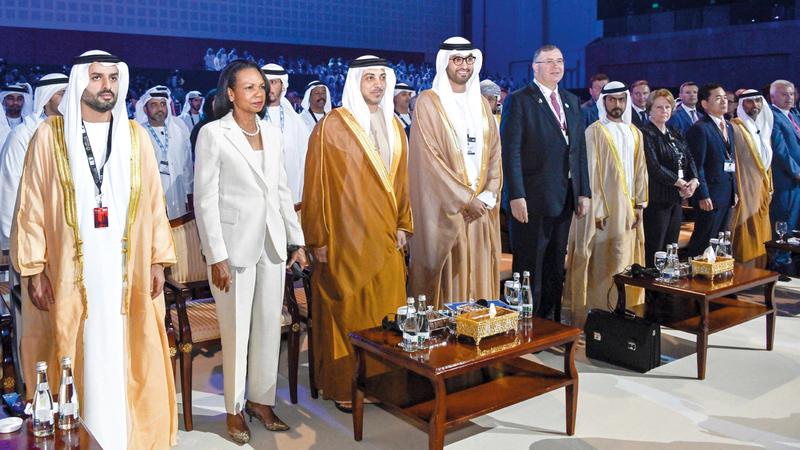 منصور بن زايد افتتح الدورة الـ35 لمعرض ومؤتمر أبوظبي الدولي للبترول (أديبك 2019). وام