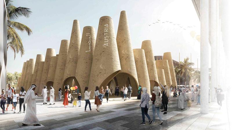 الجناح المبتكر يجمع بين أفضل الممارسات العربية والنمساوية وطرق البناء المبتكرة. أرشيفية
