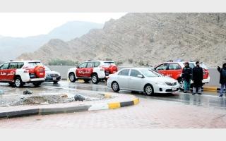 الصورة: 74 دورية من شرطة رأس الخيمة لتوفير الدعم وقت الأمطار