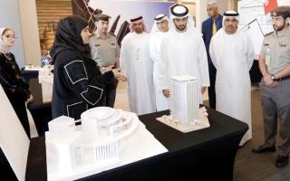 الصورة: عبدالله بن سعود المعلا يفتتح معرض التصميم المعماري