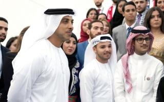 الصورة: منصور بن زايد يعلن عقد الاجتماع العربي للقيادات الشابة في 10 و11 ديسمبر