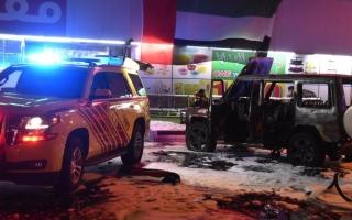 الصورة: وفاة طفلين مواطنين في حريق داخل مركبة بأبوظبي