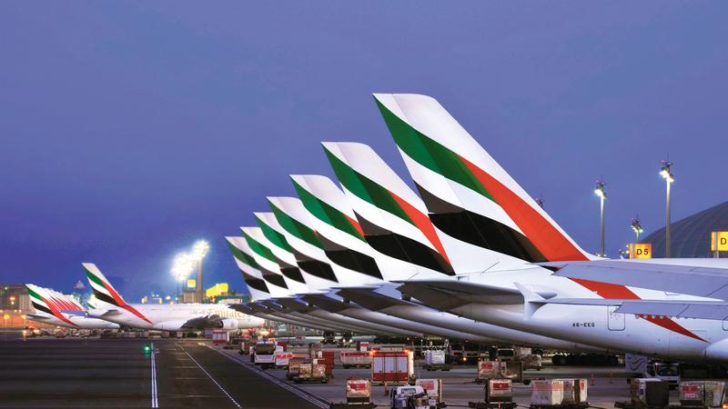 «طيران الإمارات» حققت نتائج مالية إيجابية خلال النصف الأول من السنة المالية الجارية 2019 - 2020. أرشيفية