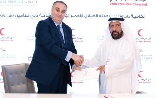 الصورة: «الهلال الأحمر» تساعد الشرائح المحتاجة بالتعاون مع «دبي للتأمين»